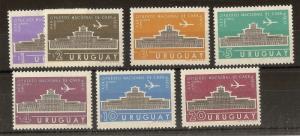 Uruguay 1961 Airs Airport SG1165-1171 MNH