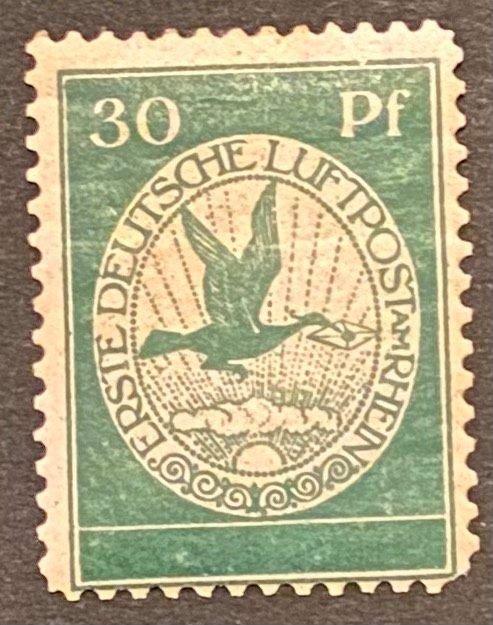 Germany 1912 Airmail Mi III Flugpost Mint *Hinged/Unused* OG