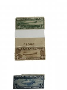 C13-15 Graf Zepplin Set Very-fine Mint Unused OG Hinged