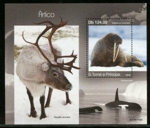 SAO TOME 2019 ARCTIC ANIMALS SOUVENIR  SHEET  MINT NH