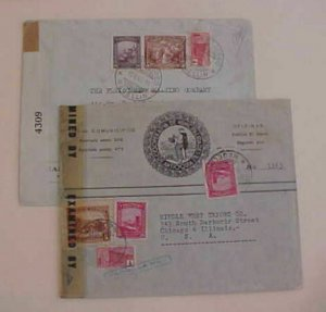 COLOMBIA  CENSORED B/S USA 1942,1944