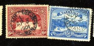 TASMANIA 92-3 USED FVF HR Cat $67
