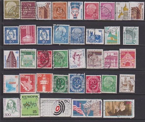 LOT OF DIFFERENT STAMPS OF GERMANYI USED (8LOT#131
