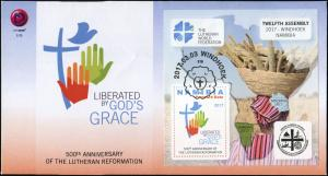 Namibia 2017. 500th Anniversary of the Lutheran Reformation (Mint) FDC
