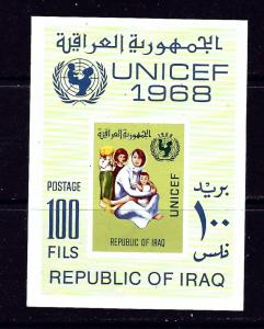Iraq 486a MNH 1968 Unicef souvenir sheet