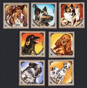 Mongolia Dogs 7v issue 1984 SG#1628-1634 SC#1412-1418