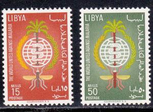 Libya # 218-219, Anti Malaria Year, Mint NH