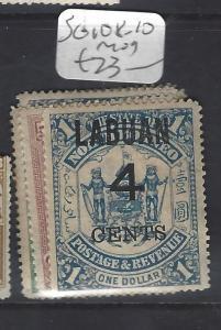 LABUAN (PP1409B)  4C/25C-4C/$1.00  SG 108-110   MOG