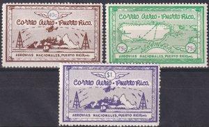 Puerto Rico 1938 Airmails (K2423L)