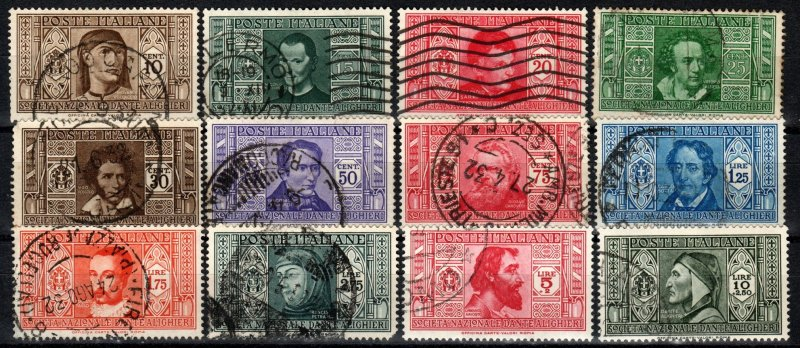 Italy #268-279  F-VF Used CV $818.85 (X2904)