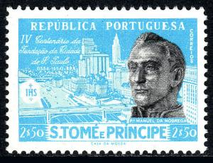 St Thomas & Prince Islands 369, Mint. Father Manuel da Nobrega. Sao Paulo, 1954