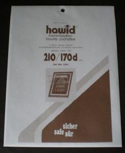 Hawid Stamp Mounts Size 210 / 170d BLACK Background Pack of 5