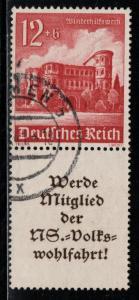Germany Scott # B182, label A11.3, used, se-tenant, Mi # S262