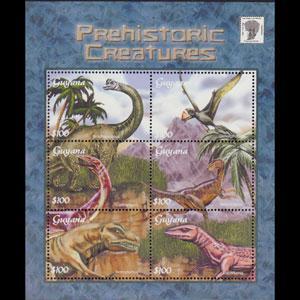 GUYANA 2001 - Scott# 3666 S/S Dinosaurs NH