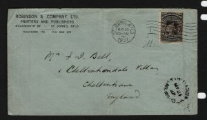 Newfoundland #C4 Used Fine+ On Cover To England With Letter **With Certificate**