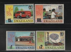 SWAZILAND 555-558 (4) Set, Hinged, 1990 Stamp World London