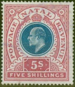 Natal 1902 5s Dull Blue & Rose SG140 Fine Lightly Used