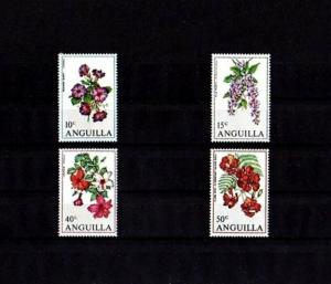 ANGUILLA - 1970 - FLOWERS - HIBISCUS - MORNING GLORY - PETREA ++ MINT - MNH SET!
