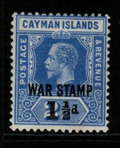 CAYMAN ISLANDS SG56 1917 1½d on 2½d DEEP BLUE MTD MINT