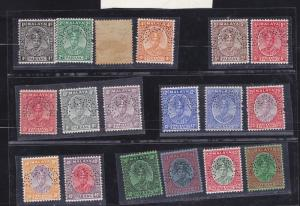 MALAYA 1935 PAHANG SG#29/46 18V TO $5  SET PERFORATED  SPECIMEN.EXCEPT 413C GRN