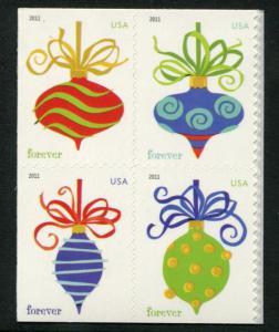 4578a US (44c) Holiday Baubles SA, MNH blk/4