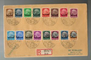 1940 Metz Germany Lothringen Cover Overprinted Full Set to Berlin
