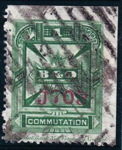 US STAMP BOB #3T7 – 1C 1886 KENDALL BANK NOT CO. TELEGRAPH STAMP USED