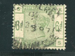 Great Britain #105 Used VF  wmk  sideways