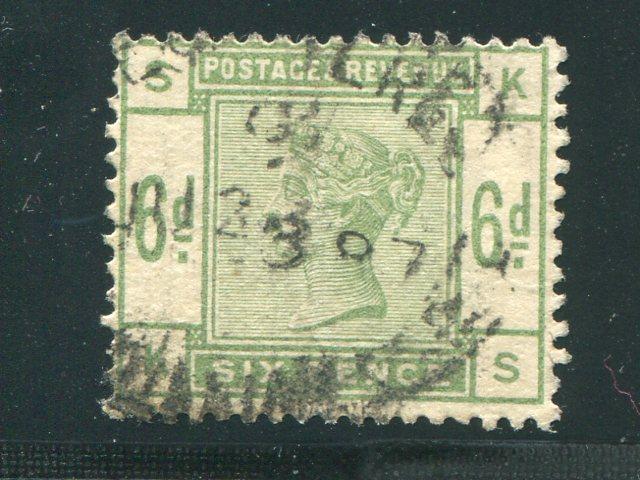 Great Britain #105 Used VF  wmk  sideways