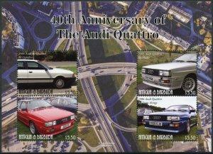 Antigua & Barbuda Cars Stamps 2021 MNH Audi Quattro 40th Anniv 4v M/S