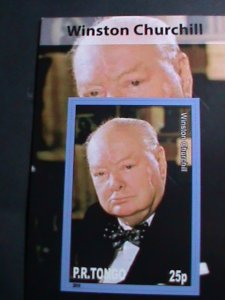 TONGA-2010 FAMOUS PERSON WINSTON CHURCHILL-IMPERF: MNH S/S SHEET-VERY FINE