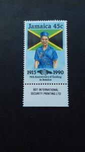 Jamaica 1990 The 75th Anniversary of Guiding in Jamaica Unused