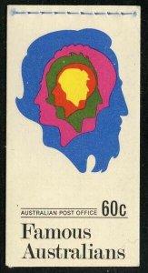 Australia 1970 60c Famous Australians Booklet SG# SB46 NH