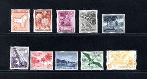 Christmas Island 11-20,    VF, Unused, Original Gum, CV $6.50 ....  1370002