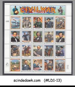 USA - 1994 CIVIL WAR MINIATURE SHEET MINT NH