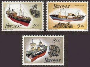 Faroe Islands #158-60 MNH ships cpl