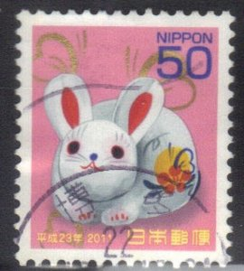 JAPAN SC# 3272 USED 50y 2010  YR OF THE RABBIT SEE SCAN