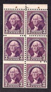 720b Mint,OG,NH... Booklet Pane... SCV $60.00
