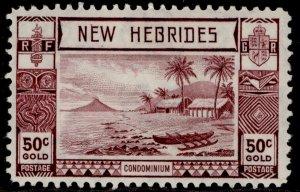 NEW HEBRIDES GVI SG59, 50c purple, M MINT.