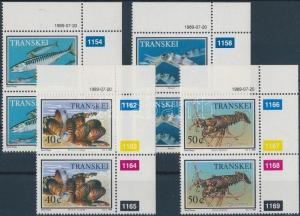 South Africa Transkei stamp Aquatic Animals corner set in pair 1989 MNH WS185317