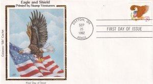1992, Eagle & Shield, Colorano Silk, FDC (E12295)