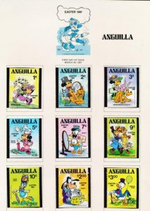 DISNEY ANGUILLA 432-442 MINT NH EASTER 1981