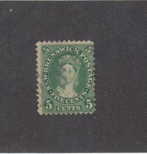 NEW BRUNSWICK (MK3938) # 8 F-USED 5cts 1860 QV /WITH CANCEL /GREEN /CENTS ISSUE