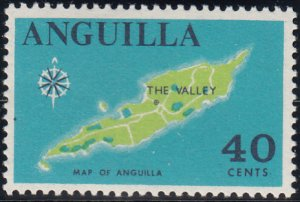 Anguilla 1967-68 MNH Sc #27 40c Map of Anguilla
