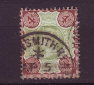 J19741 Jlstamps 1887-92 great britain used #116 queen