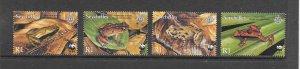 FROGS - SEYCHELLES #831-4  WWF  MNH