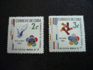 Stamps - Cuba - Scott# 745-746 - Mint Hinged Set of 2 Stamps