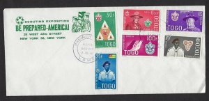1961 Togo Boy Scout BadenPowell Beard BSA Scouting Expo FDC