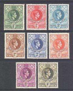 Swaziland Scott 27/34 - SG28/35, 1938 George VI Set to 1/- MH*