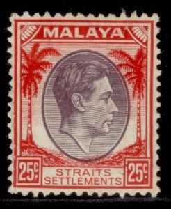 MALAYSIA - Straits Settlements GVI SG286, 25c, M MINT. Cat £48.